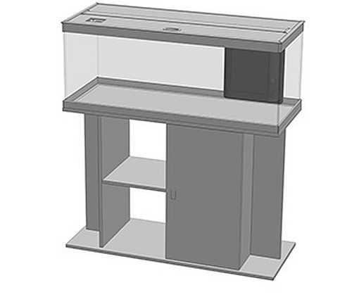 אקווריום + שולחן Aquatlantis Style Led 100 - תמונה 4
