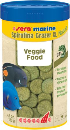 סרה ספירולינה 250 מל / 120 גרם Sera Mrine Spirulina Grazer XL - תמונה 1